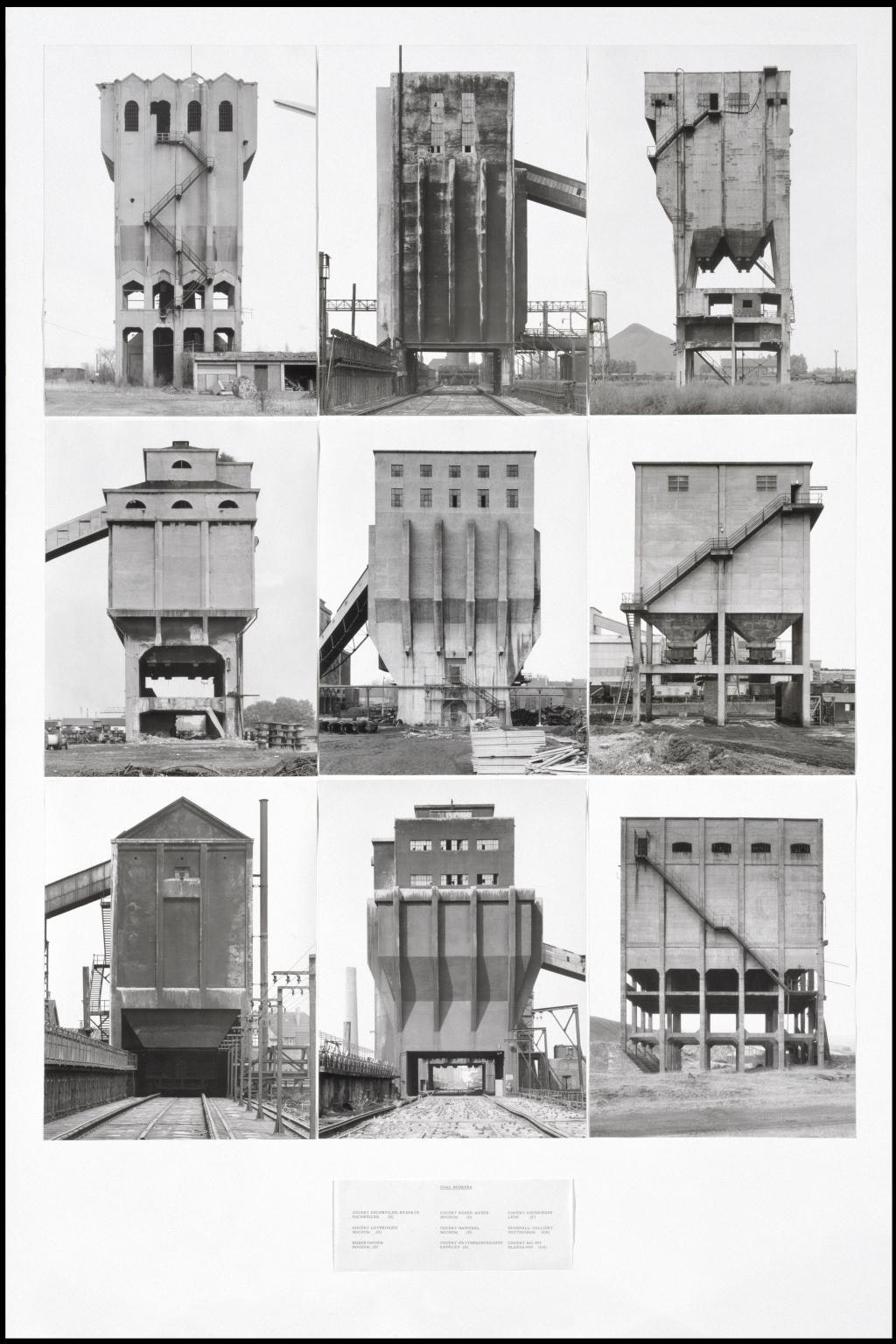 Coal Bunkers 1974 by Bernd Becher and Hilla Becher 1931-2007, 1934-2015