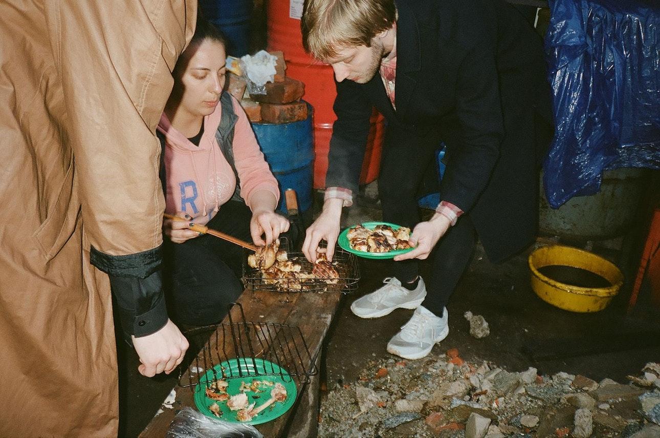 шашлыки по поводу окончания тура в калининграде