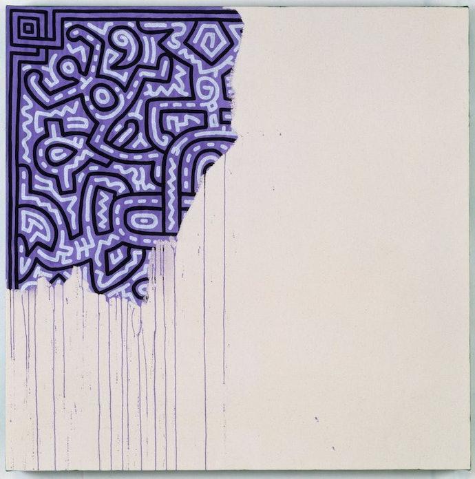 Keith_Haring_(1958-1990)_Utolsó-_befejezetlen_festmény__1989