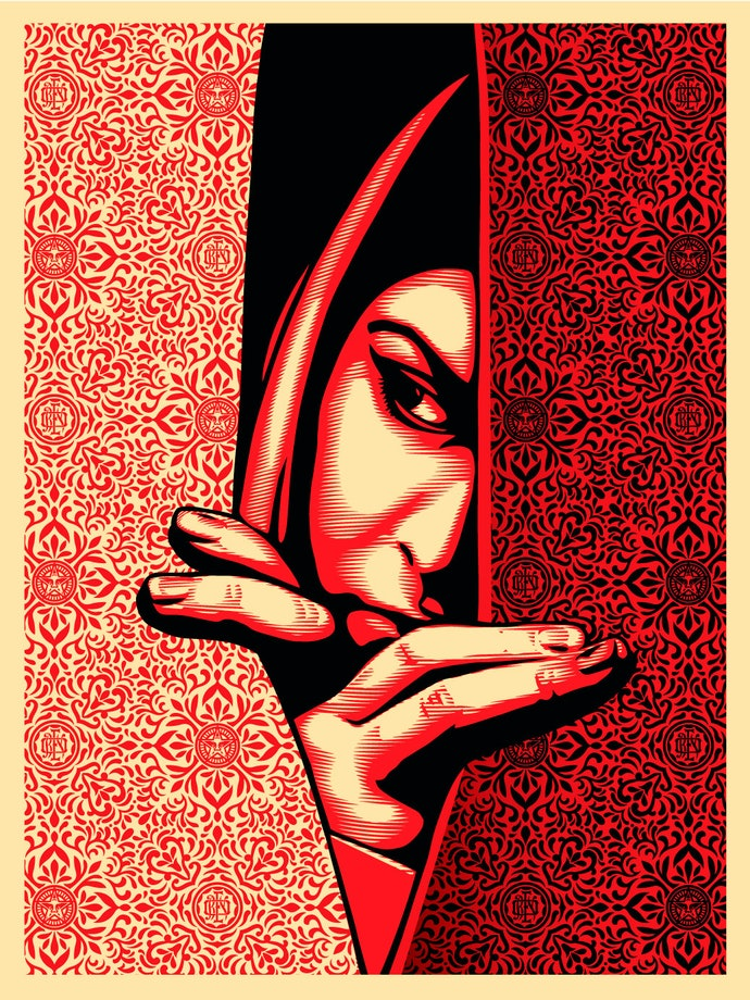 Шепард-Фэйри,-Израиль_Палестина,-2009.-Шелкография-на-бумаге