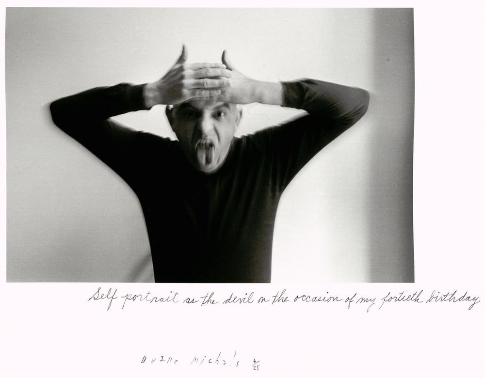 Duane Michals; Self Portrait as a Devil on the Occasion of My Fortieth Birthday, 1972 © Duane Michals; The Henry L. Hillman Fund. Courtesy of Carnegie Museum of Art, Pittsburgh