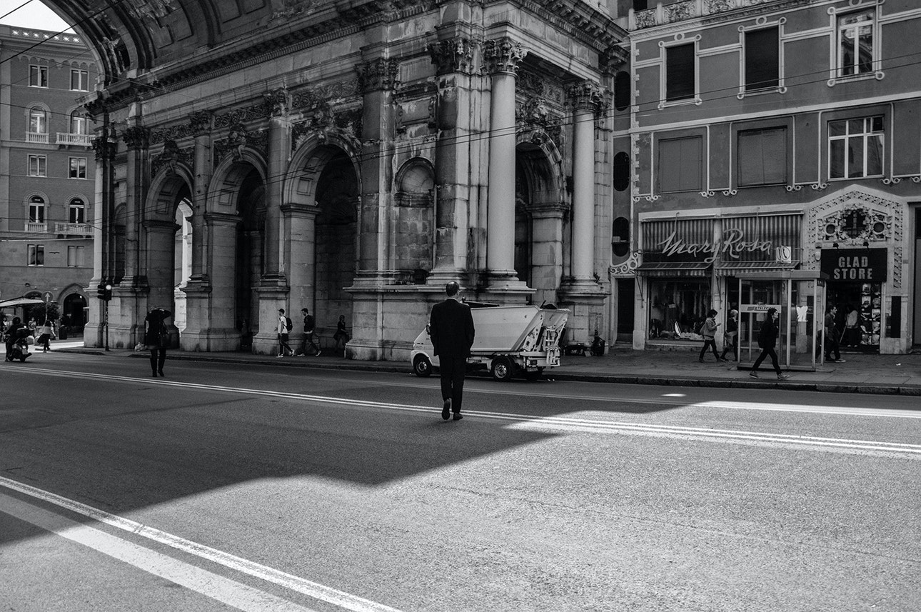 Genova.man on the road