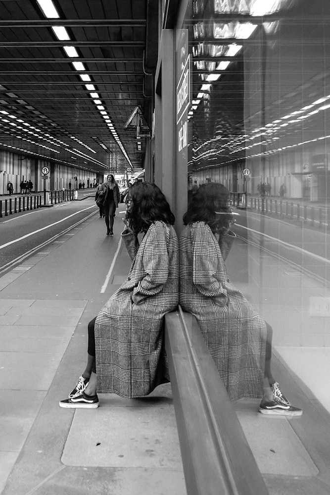 Girl in the tunnel. London