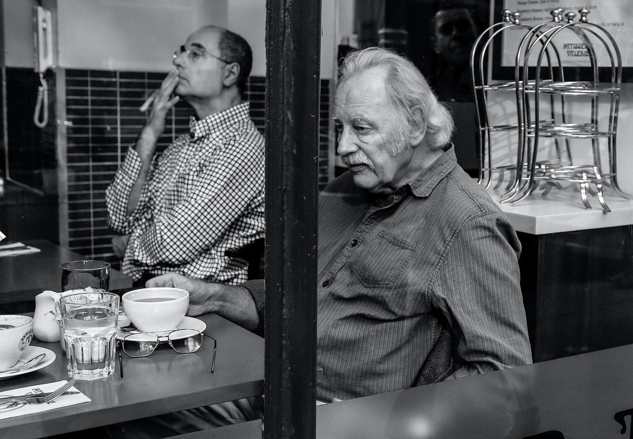 Man in cafee. From the series SOMETHING IN BETWEEN. London