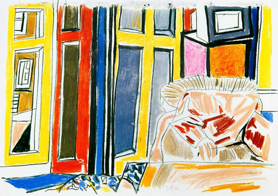 1987, wax crayon on paper. Walter Pfeiffer. Courtesy of Edition Patrick Frey.
