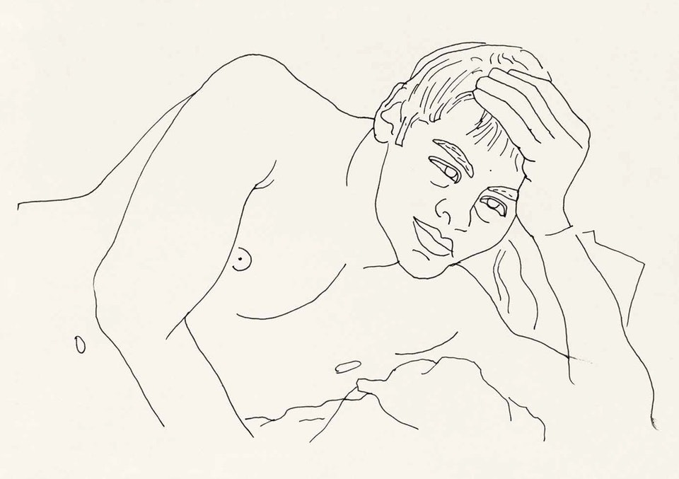 1991, ink on paper. Walter Pfeiffer. Courtesy of Edition Patrick Frey.