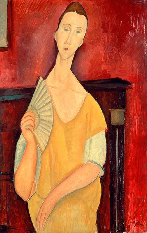 Amedeo_Modigliani,_1919,_Woman_with_a_Fan,_oil_on_canvas,_100_x_65_cm,_Musée_d'Art_Moderne_de_la_Ville_de_Paris