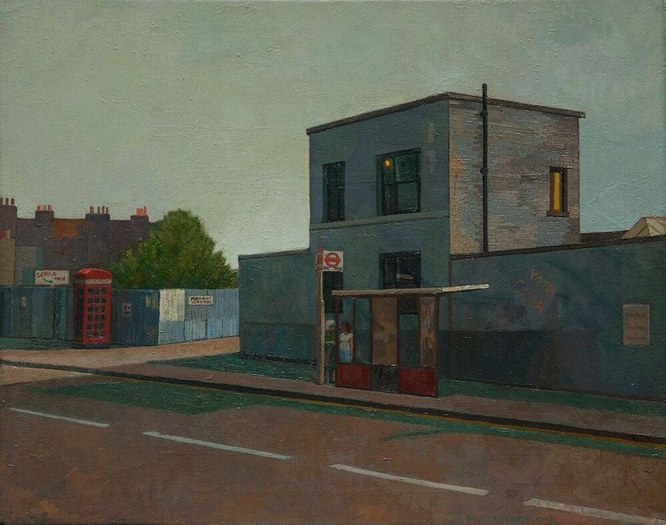 Автобусная остановка, Майл-Энд, восточный Лондон, 1983