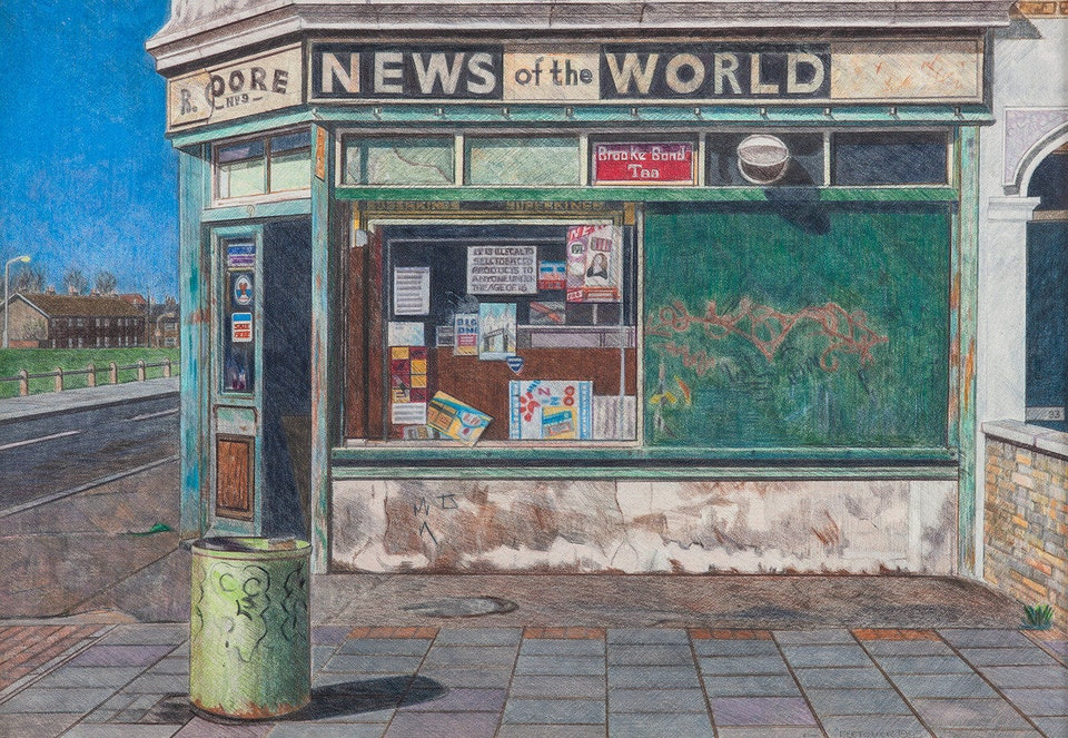 Магазин на углу, Кеннинг-Таун, восточный Лондон, 1994