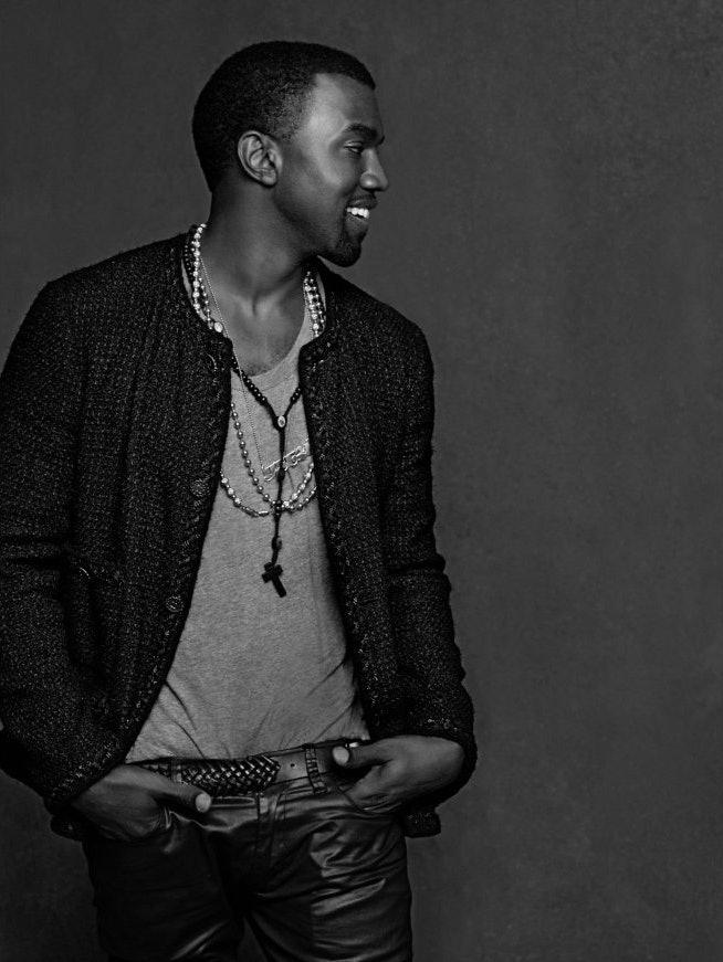 Фотография_Карл-Лагерфельд_The-Little-Black-Jacket_Kanye-Omari-West