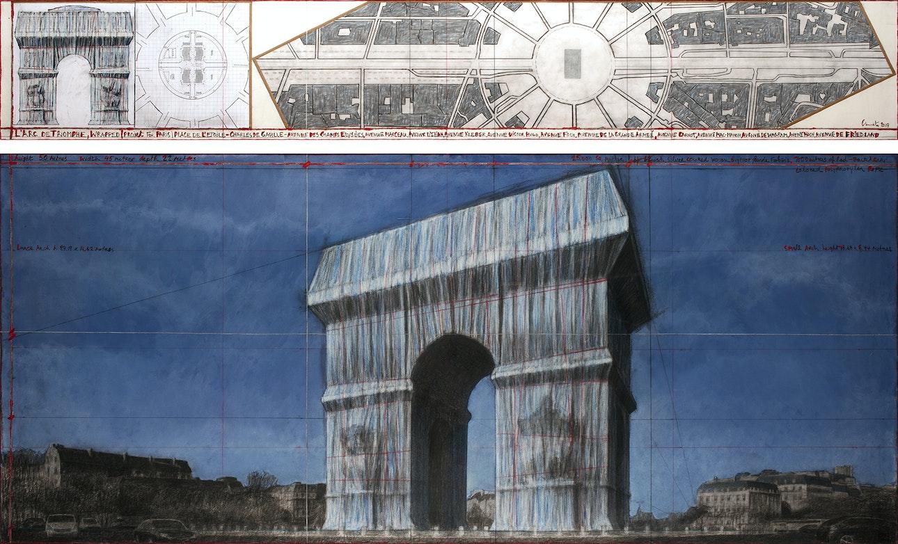 L'Arc de Triomphe, Wrapped - L'Arc de Triomphe, Wrapped (Project for Paris) Place de l'Etoile – Charles de Gaulle (1)