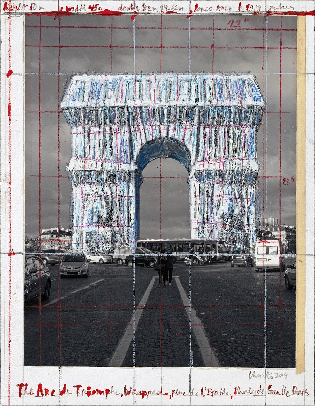 L'Arc de Triomphe, Wrapped - The Arc de Triomphe, Wrapped, Place de l'Etoile, Charles de Gaulle, Paris