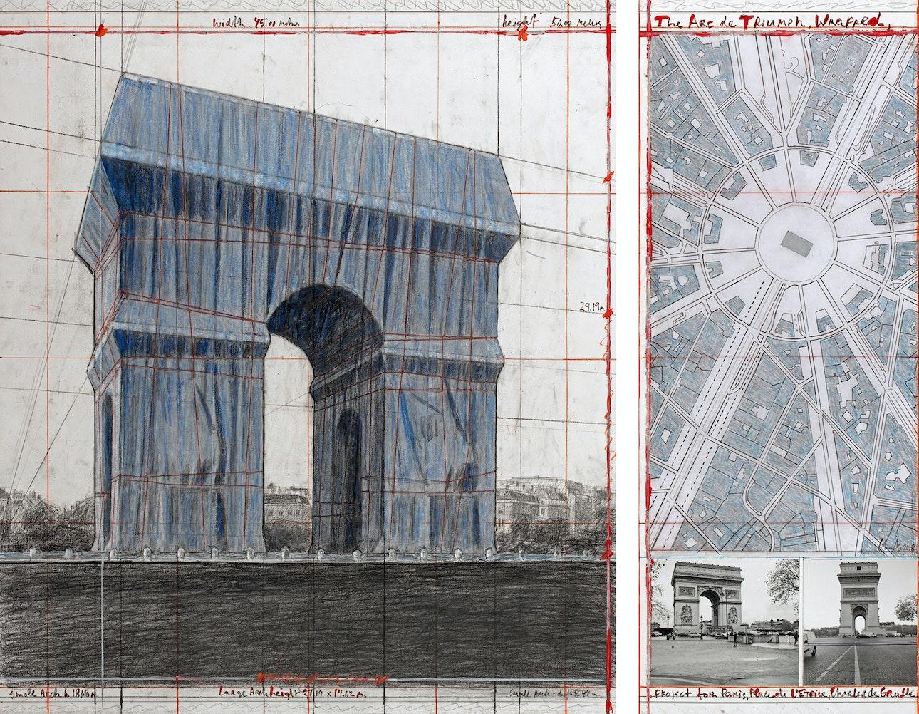 L'Arc de Triomphe, Wrapped - The Arc de Triumph, Wrapped, Project for Paris, Place de l'Etoile, Charles de Gaulle