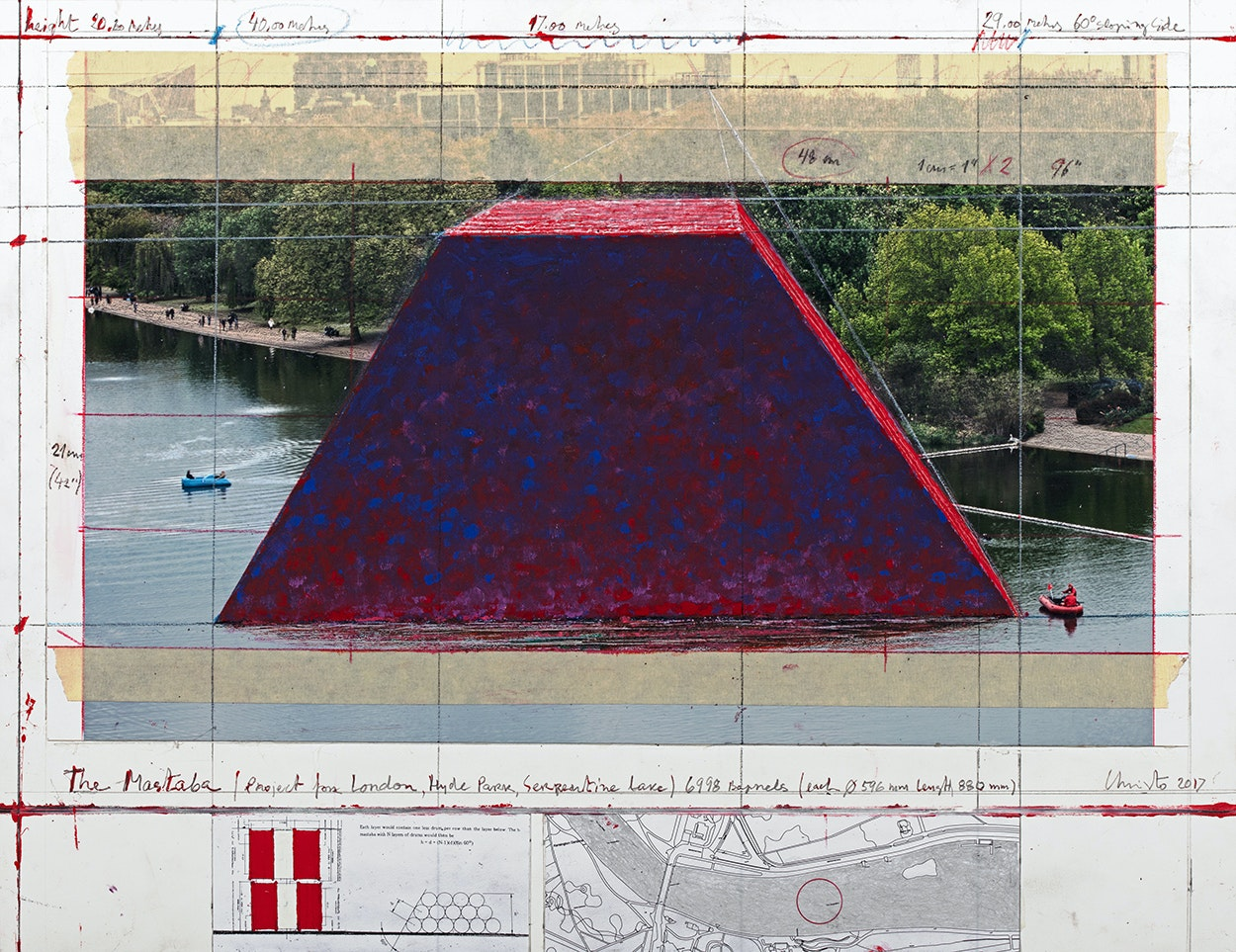 The London Mastaba - The Mastaba (Project for London, Hyde Park, Serpentine Lake) (2)