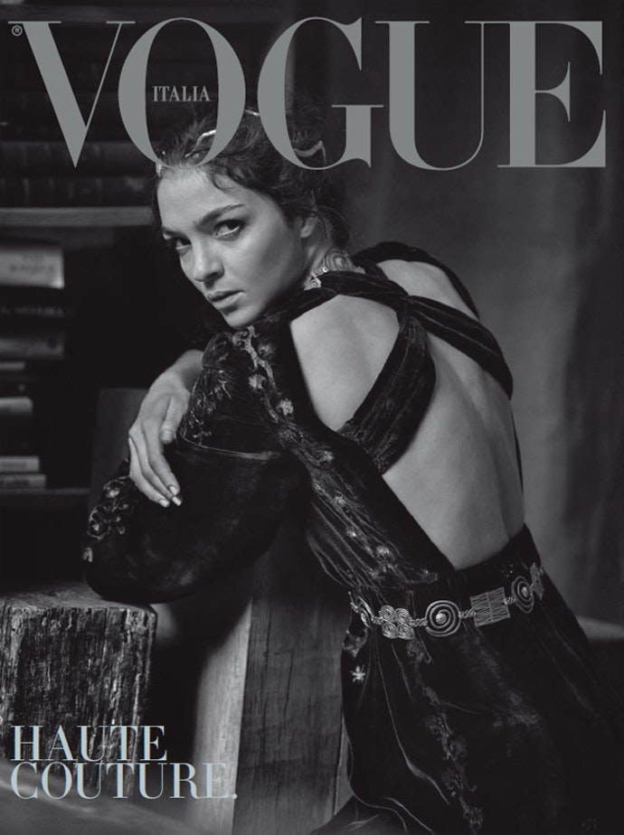vogue-italy-peter-lindbergh-Maria-Carla-Boscono-cover-full