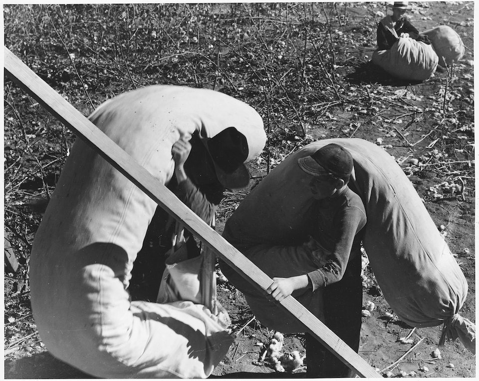 dorothea_lang_Eloy_District,_Pinal_County,_Arizona._Father_and_boy,_ready_to_weigh_their_last_sacks_of_cotton_at_t_._._._-_NARA_-_522550