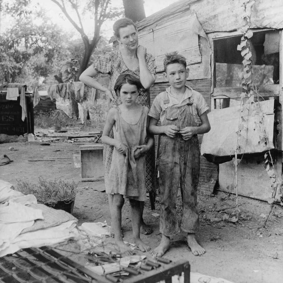 dorothea_lang_Poor_mother_and_children,_Oklahoma,_1936_by_Dorothea_Lange