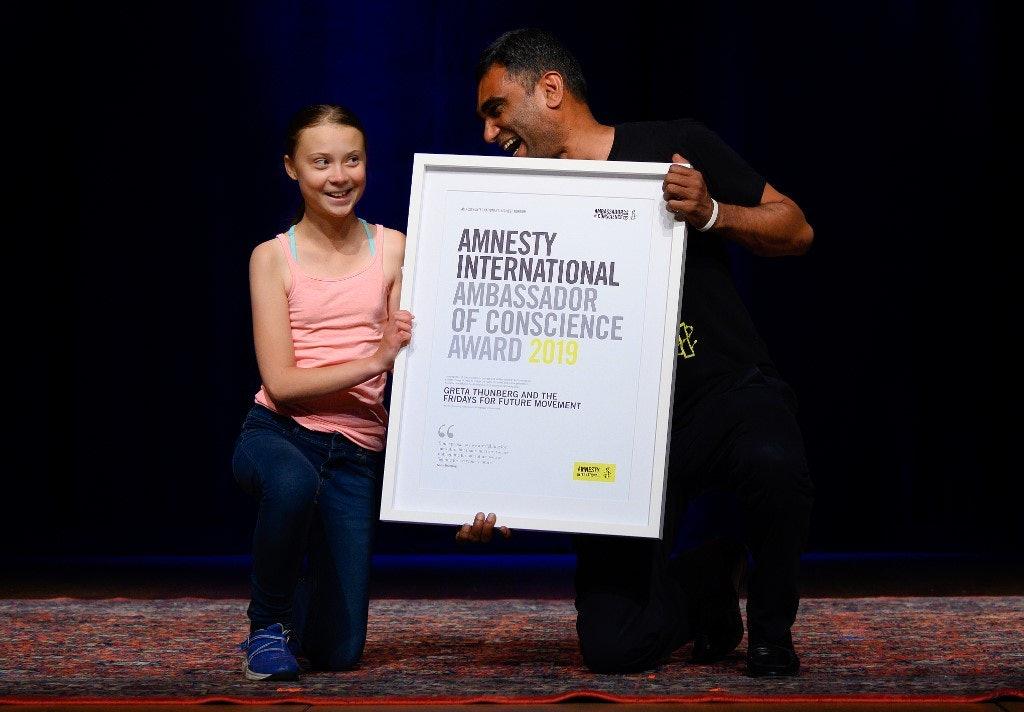 Amnesty gives climate activist Greta Thunberg human rights award