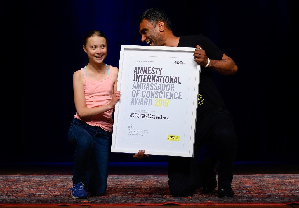 Amnesty gives climate activist Greta Thunberg human rights award