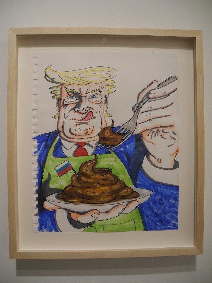 Political cartoons by Jim Carrey