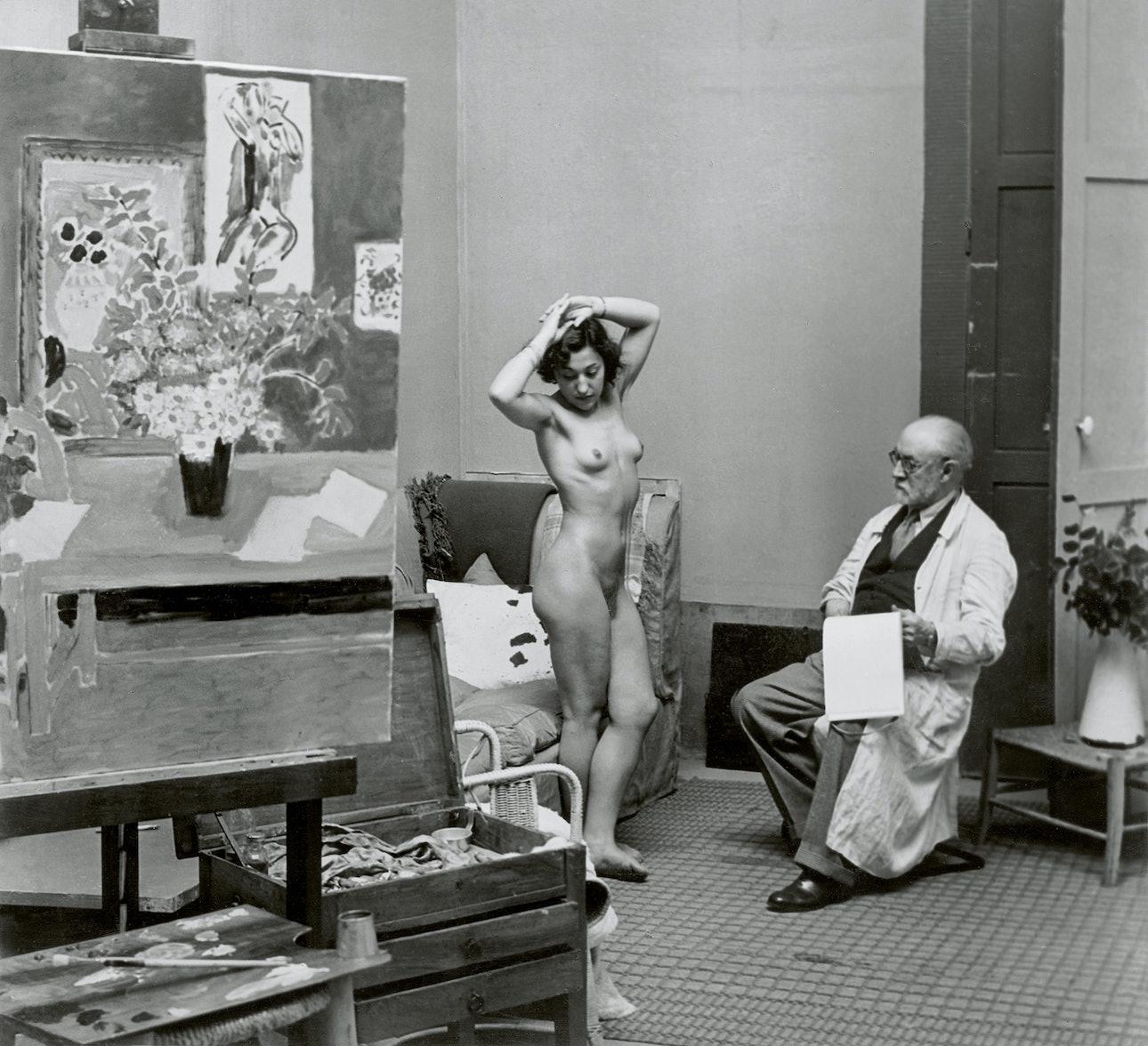 Matisse with his Model 1939 c Estate Brassai Succession Paris копия