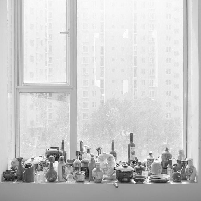 The window of an art school.