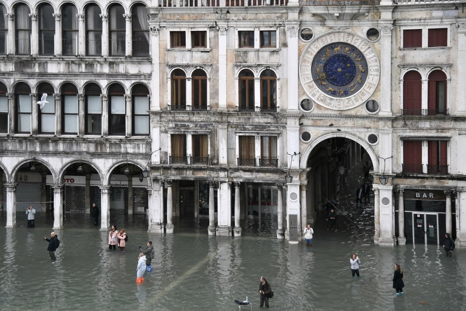 ITALY-WEATHER-FLOODING-ALTA ACQUA-HIGH WATER-VENICE