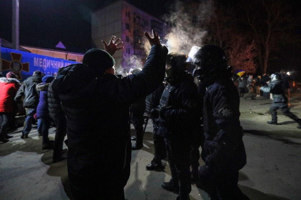 UKRAINE-CHINA-HEALTH-VIRUS-PROTEST