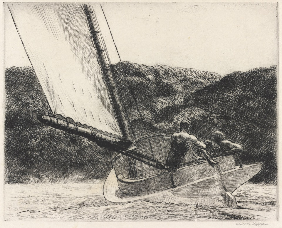 Edward_Hopper,_The_Cat_Boat,_1922 Rosenwald Collection 6513