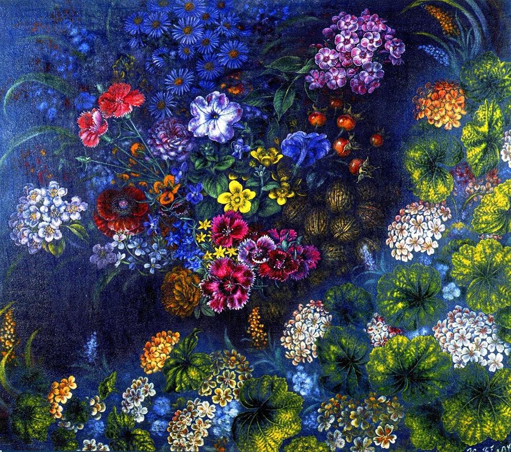 Цветы и орехи. 1948