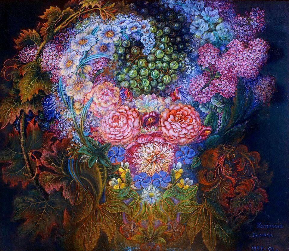 Цветы и виноград. 1953 - 1958