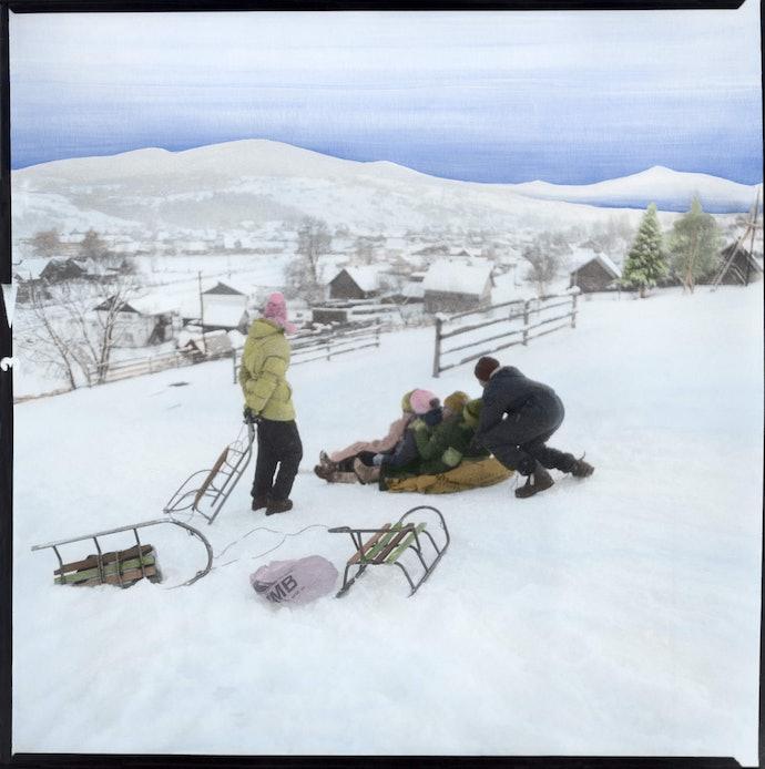 Dmytro_Kupriyan_10_-_Children_rides_the_hill