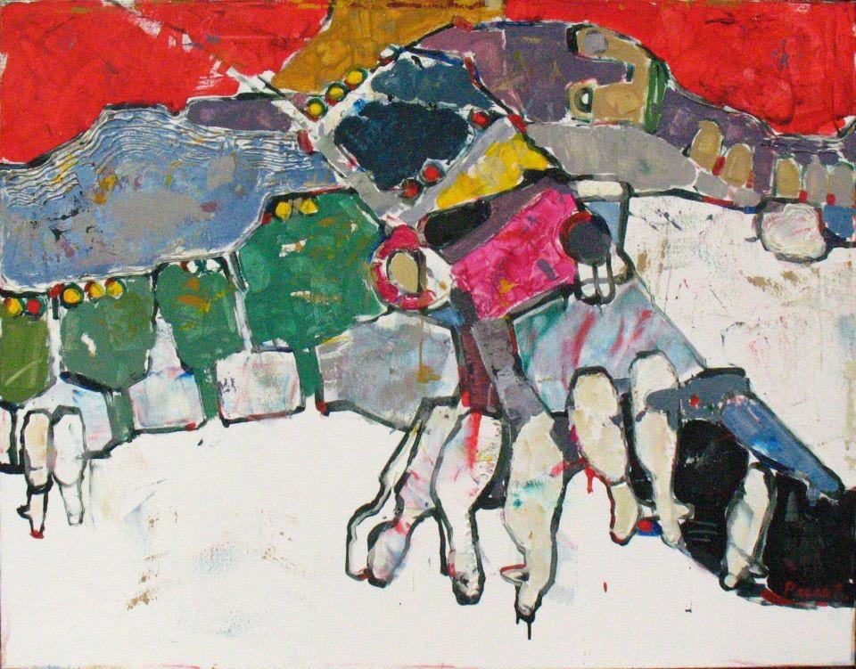 Татарський вівчар (Крим,Плотинне) 70х90см,акрил,полотно, 2013р