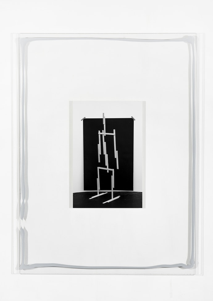 Vytautas Kumža, Half Empty Half Full #1, Hahnemühle print mounted on glass, silicone, 2019