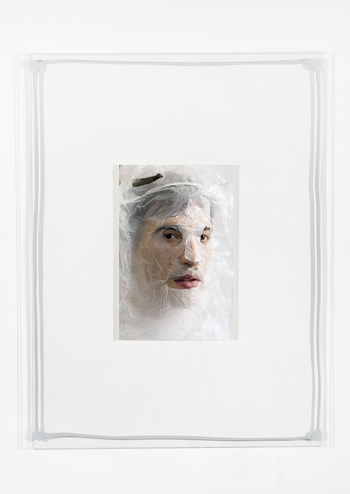 Vytautas Kumža, Half Empty Half Full #11, Hahnemühle print mounted on glass, silicone, 2019
