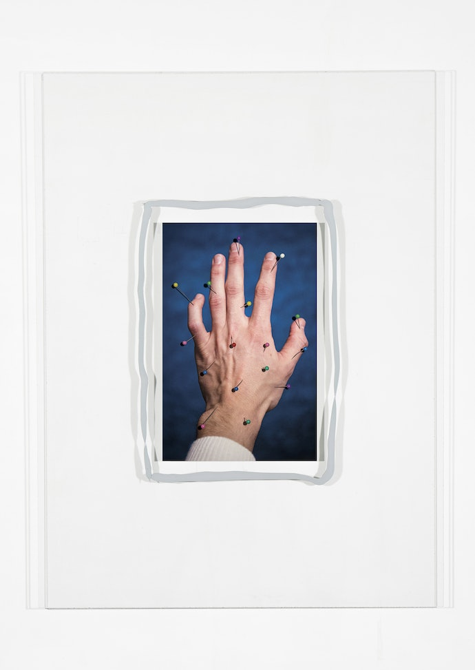 Vytautas Kumža, Half Empty Half Full #14, Hahnemühle print mounted on glass, silicone, 2019