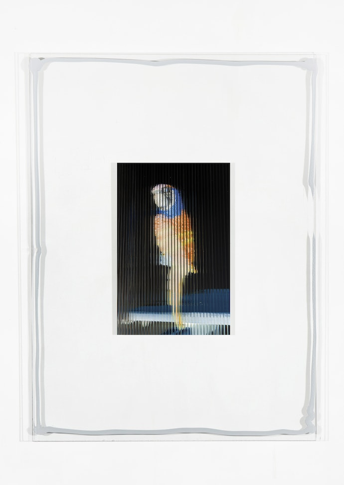 Vytautas Kumža, Half Empty Half Full #17, Hahnemühle print mounted on glass, silicone, 2019