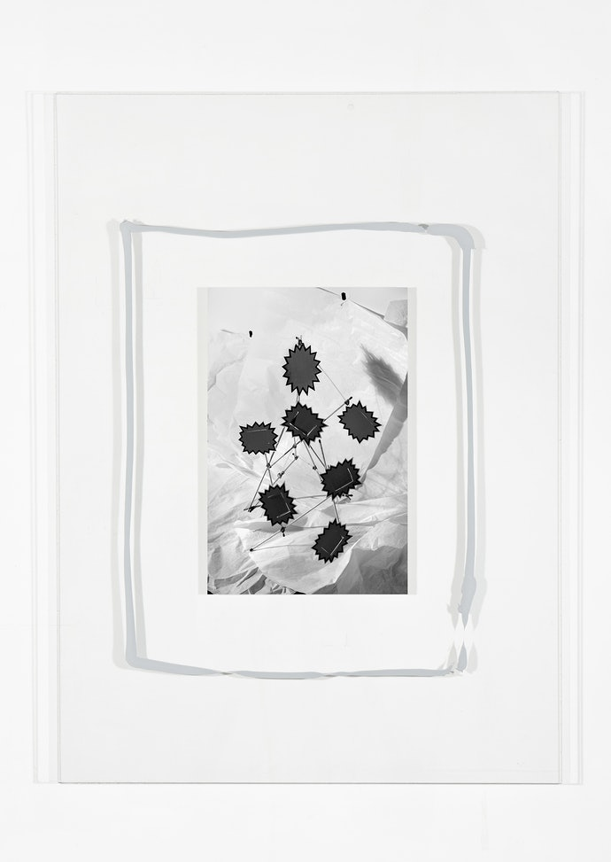 Vytautas Kumža, Half Empty Half Full #5, Hahnemühle print mounted on glass, silicone, 2019