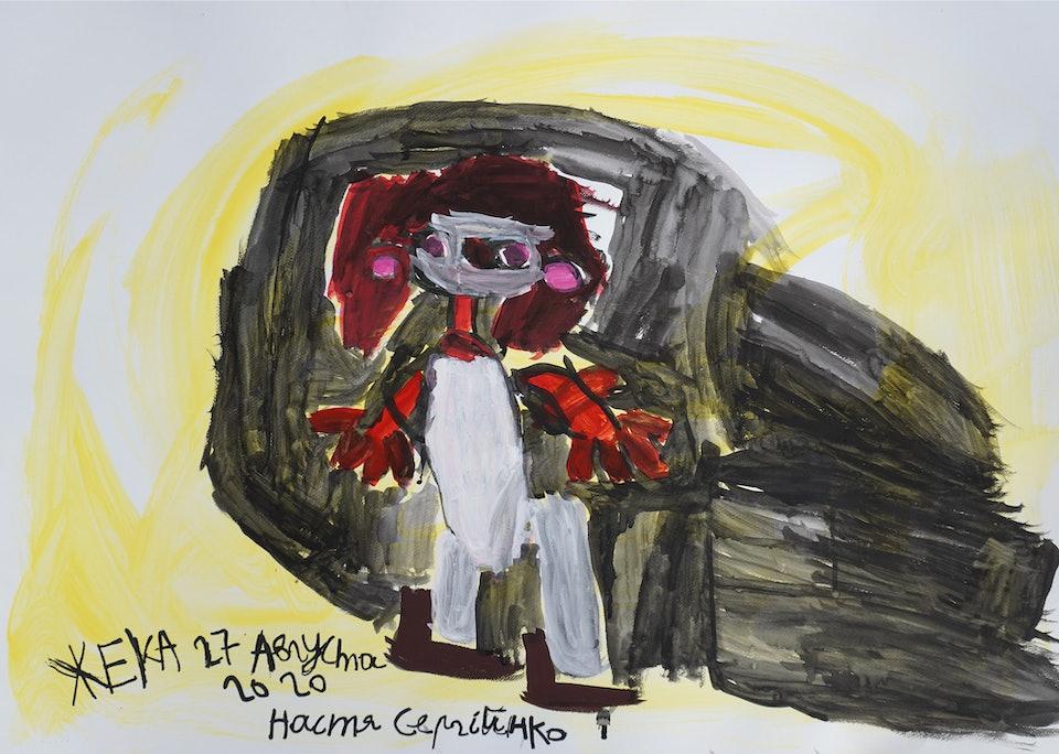 Yevhen Holubentsev A1 Portret Anastasia Serhiiko