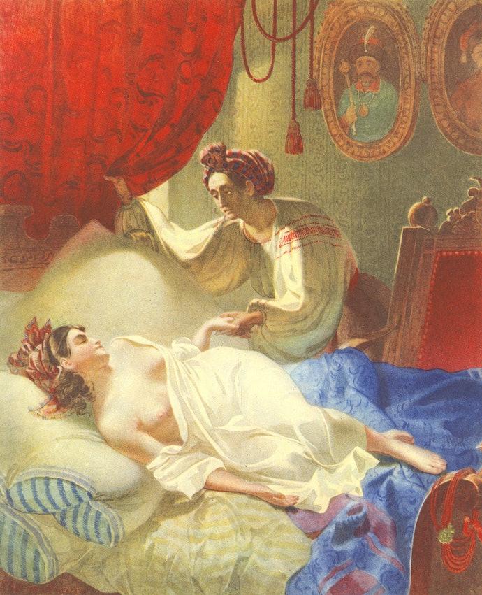Марія. Малюнок за поемою О. С. Пушкіна «Полтава».