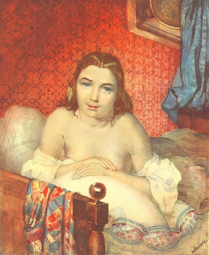 Жінка в ліжку