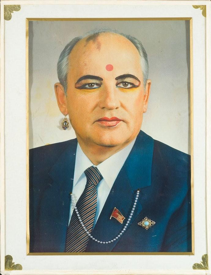 Горбачев в виде индийской женщины. Частная коллекция