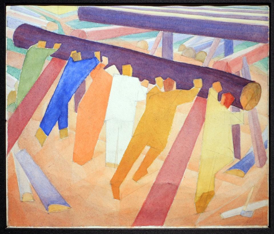 Накат колоды. Эскиз. 1928-1929. Courtesy of James Butterwick