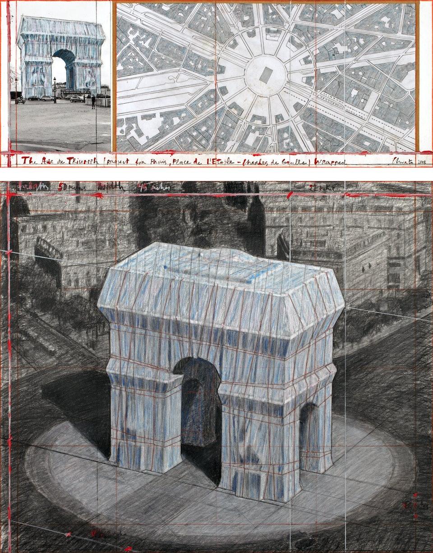 Arc-de-Triomphe_André Grossmann Христо Явашев Триумфальная арка