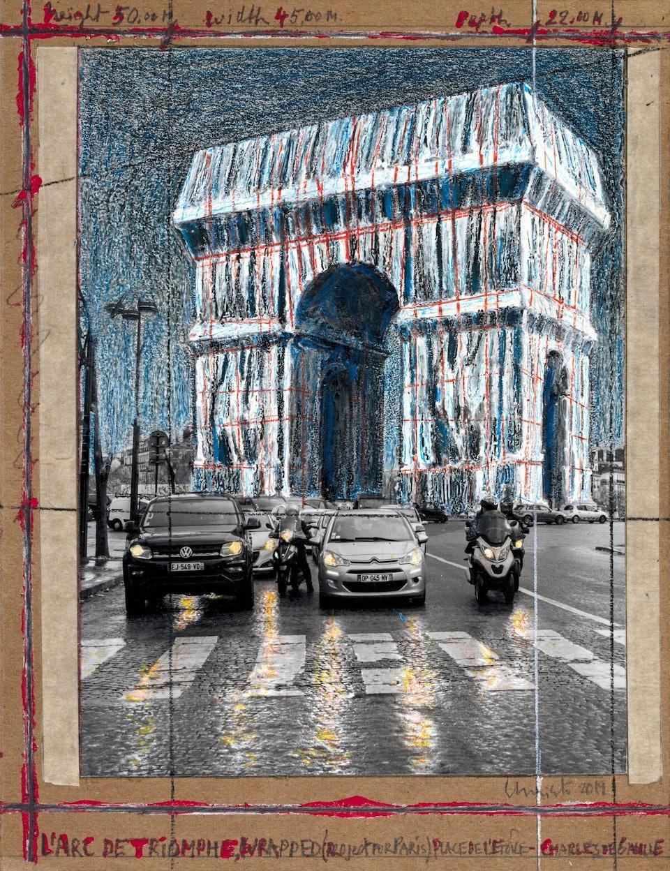 Arc-de-Triomphe_André Grossmann_ Христо Явашев Триумфальная арка