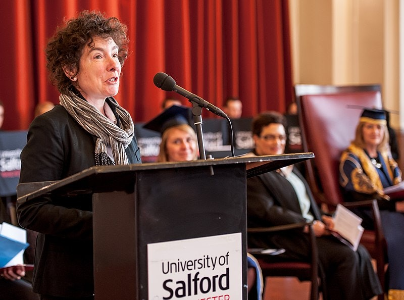 Sixth Chancellor of the University of Salford.Jeanette Winterson