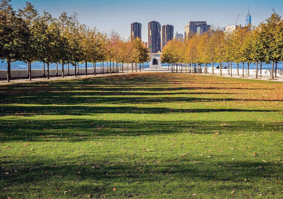 Franklin-Roosevelt-Four-Freedoms-Park Парк четырех свобод Рузвельта в Нью-Йорке