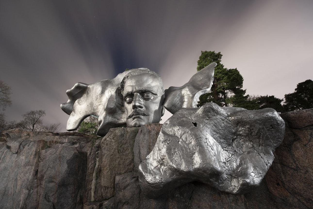 Памятник Яну Сибелиусу, Хельсинки, Финляндия, Сяо Янг, Xiao Yang Eternal monuments in the dark