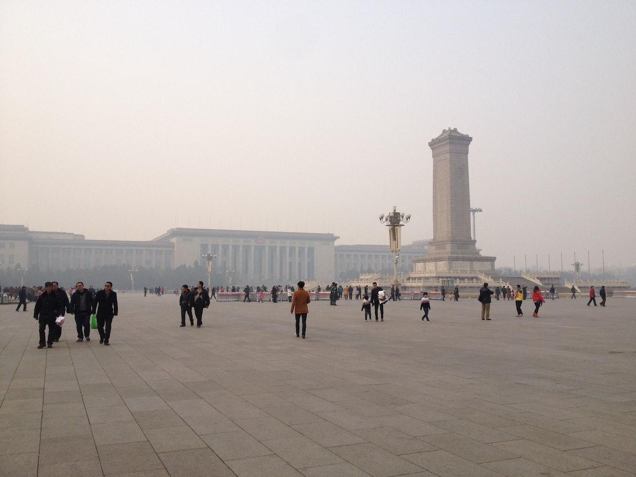 Площадь Тяньаньмэнь в Пекине Китай урбанизм