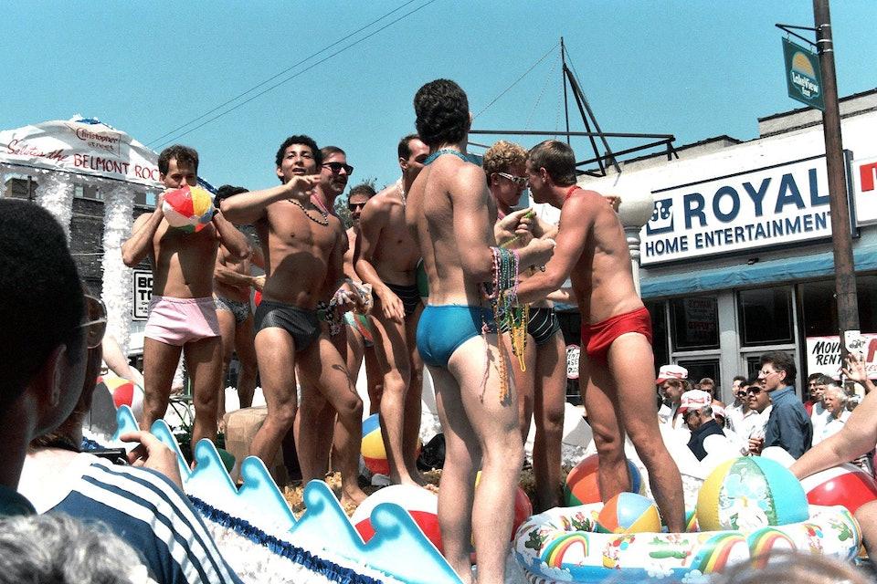 lgbt_aids парад геев и лесбиянок в Чикаго в 1985